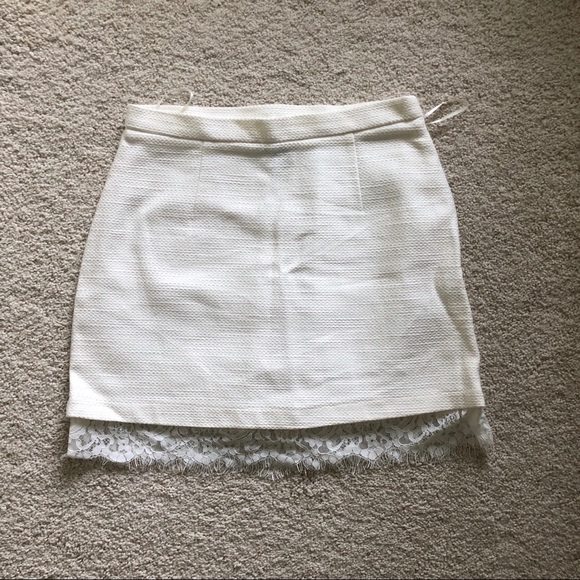 Topshop Dresses & Skirts - Topshop White Lace Skirt